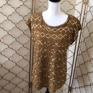 Anthropologie sequined top